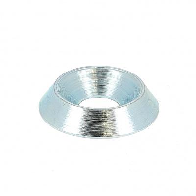 Rosetten Vollmetall Stahl Weiß verzinkt NFE 27619