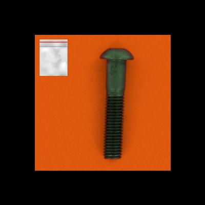 Beutel mit 25 Halbrundkopfschrauben mit Innensechskant Stahl 10.9 Schwarz