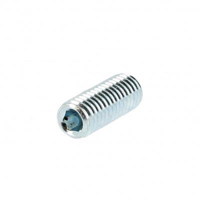 Gewindestift Innensechskant mit Ringschneide Stahl 14.9 Weiß verzinkt DIN 916
