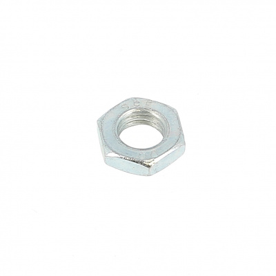 Sechskantmuttern Flach Stahl Weiß verzinkt DIN 439