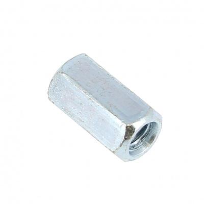 erbindungsmutter 3D Stahl Weiß verzinkt DIN 6334