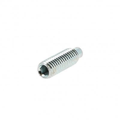 Gewindestift Innensechskant mit Zapfen Stahl 14.9 Weiß verzinkt DIN 915
