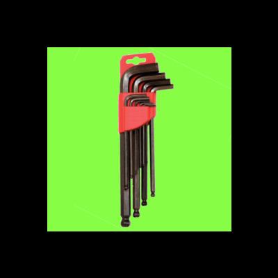 Satz mit 9 Steckschlüsseln Kugelkopf 1,5 bis 10