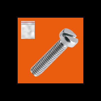 Beutel mit 25 Zylinderschrauben Stahl Weiß verzinkt